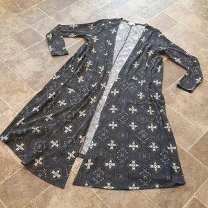 LuLaRoe womens size L traibal print Sarah cardigan